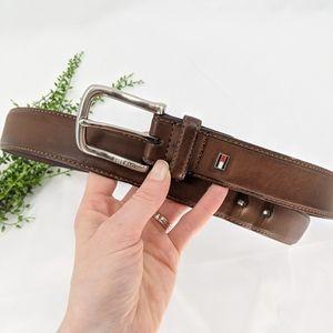 Tommy Hilfiger Brown Leather Belt